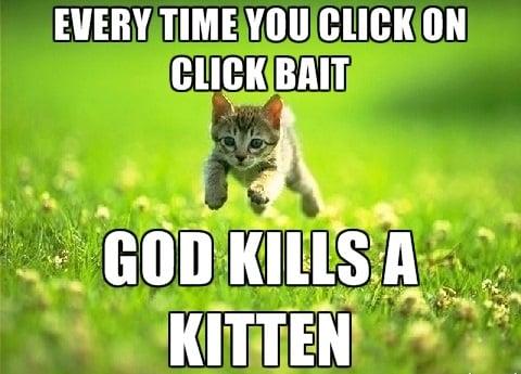 Clickbait kitten GIF