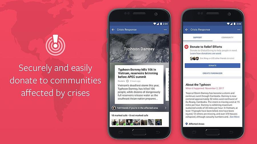 Social Media Service, Facebook new crisis button, new social platform features 2018