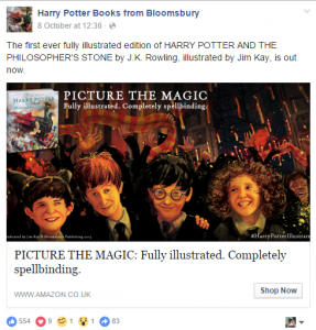 ILLUSTRATED EDITION OF HARRY POTTER Buy Now  Button on Facebook