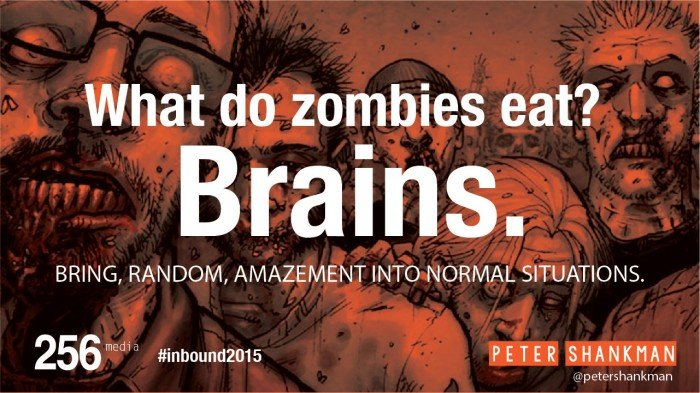 Peter Shankman What do Zombies Eat? Brains. Inbound 2015