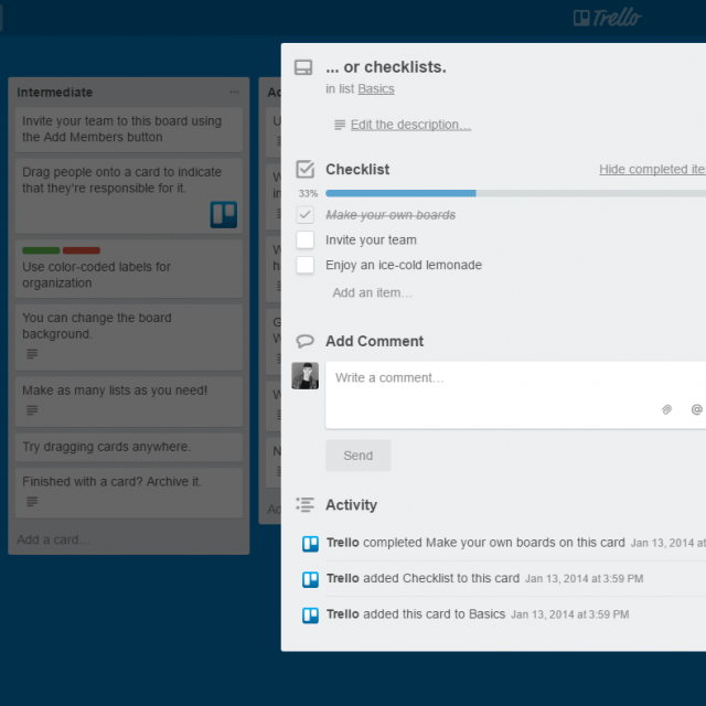 Set Up a Checklist in Trello