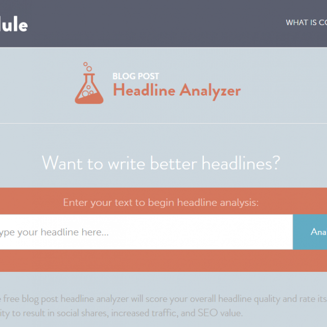 CoSchedule Headline Analyser Free Marketing Tool