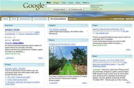 Google Recommendations Tag 2007