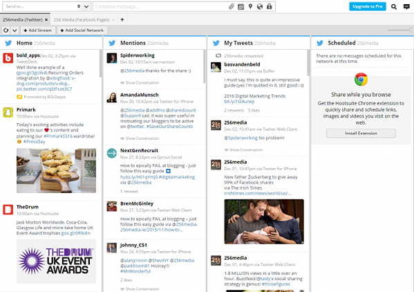 hootsuite in action