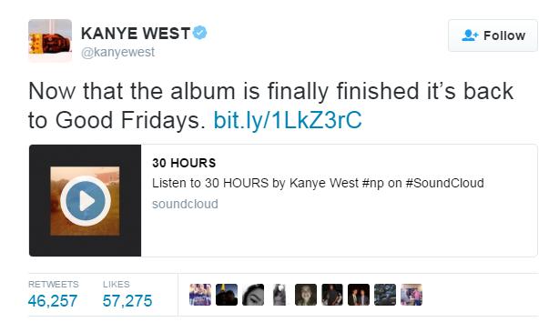 kanye West Twitter Album Marketing