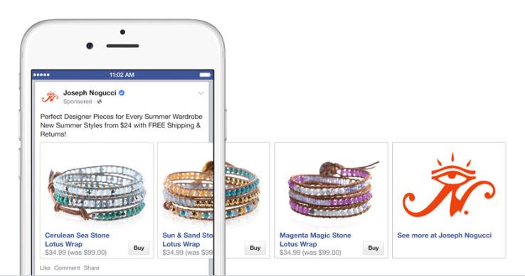 Buy Now Button Facebook Example