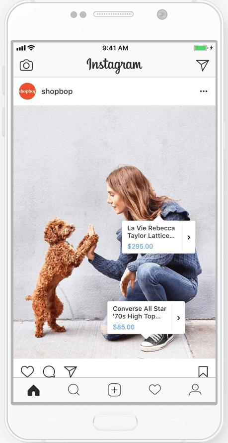 social media online shopping, Instagram feed shopping