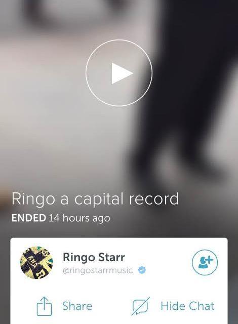 Ringo Starr on Periscope
