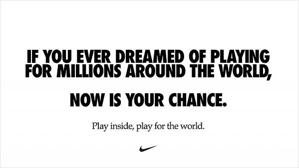 Nike's Play Inside Campaign