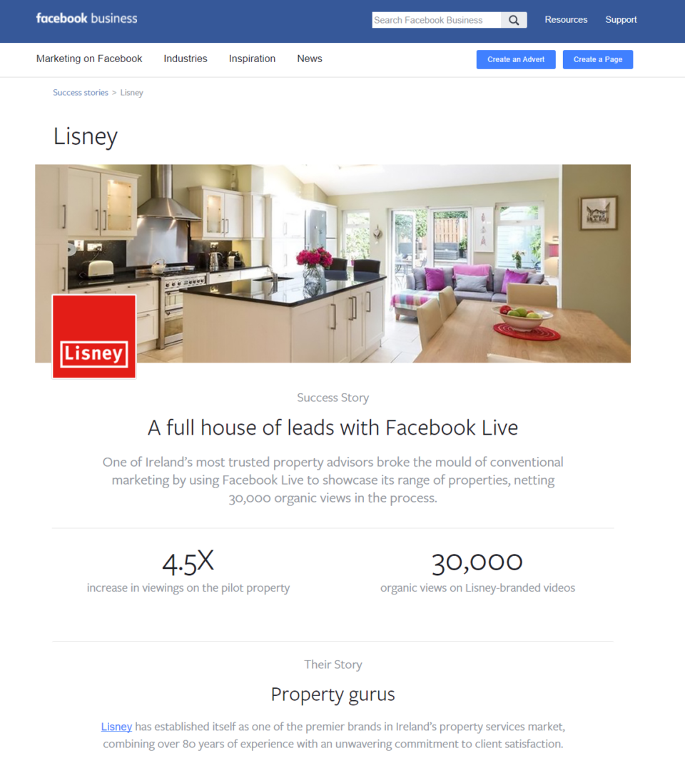 Lisney – the competitive edge with a Facebook case study
