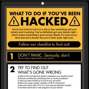 What to Do if Hacked Checklist