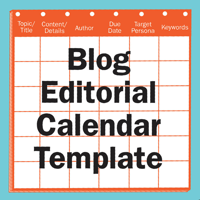 Blog Editorial Calendar Template